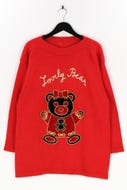 Ohne Label-Strick-Pullover mit Stickereien aus Woll-Mix mit Stickereien aus Woll-Mix-XL
