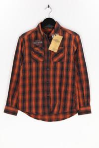 HARLEY DAVIDSON - karo-bluse mit logo-applikation - XS