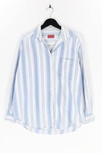 VITAMIN - hemd-bluse mit streifen, aus baumwolle - M
