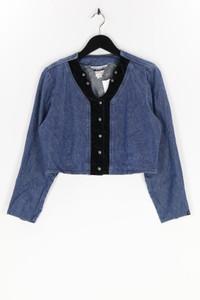 ROCKIES - jeans-bluse aus baumwolle, mit samt - S