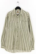 GATE JEANS - jeans-hemd mit streifen - L