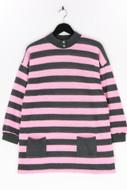 Ohne Label-Long-Strick-Pullover mit Streifen mit Streifen-M
