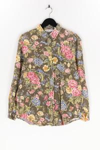 TALBOTS - hemd-bluse aus baumwolle mit blumen-print - M