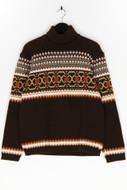 Ohne Label - norweger-pullover mit rollkragen - 50
