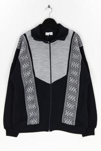 Ohne Label - zipper-cardigan mit schurwolle - XL