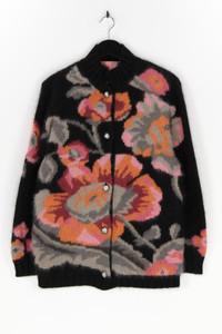 Ohne Label - cardigan aus woll-mix mit floralem muster - L