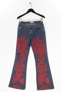 B.B.rose - used look bootcut-jeans mit print - W31