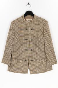 SIEGELSTOFF- haute couture MODÈLE - zweireiher-jacke aus woll-mix mit karo-muster - L