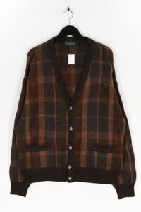 LEONARDO - cardigan aus woll-mix mit karo-muster - XL