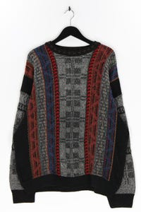 BAFFO - muster-rundhals-pullover aus woll-mix - XL