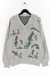 Ohne Label - v-neck-pullover aus woll-mix - XL