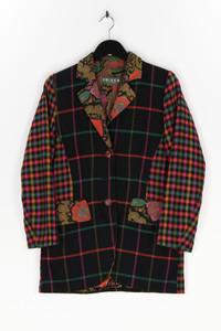 CRISCA - blazer aus woll-mix mit karo-muster - S