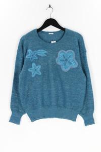 Ohne Label - 80s-strick-pullover mit perlen - L