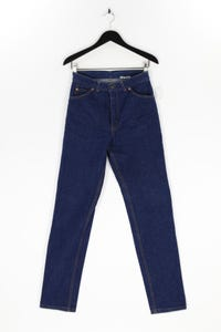 Levi´s - high waist-used look straight cut jeans mit logo-badge - S