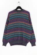 Ohne Label-Pullover mit Zickzack-Muster m mit Zickzack-Muster m-54