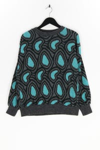 Ohne Label - muster-strick-pullover - L