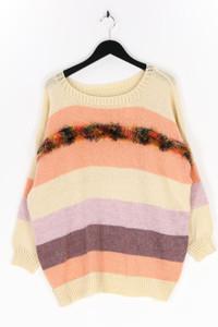 Ohne Label - strick-pullover mit streifen - L