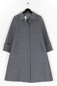 Ohne Label - winter-mantel aus reiner schurwolle mit steppung - L