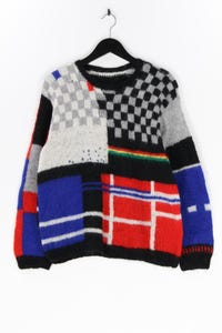 Ohne Label - muster-pullover aus woll-mix - L