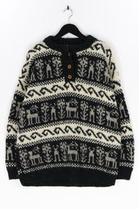 Ohne Label - norweger-pullover aus wolle - XXL
