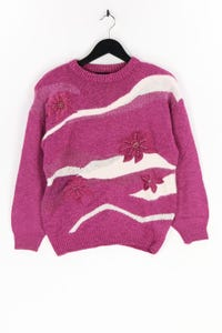 YOUR 6th SENSE - strick-pullover mit angora mit perlen - S