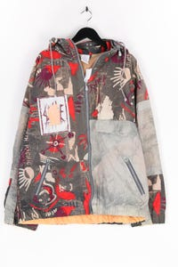 Ohne Label - print-jacke mit zipper - XL