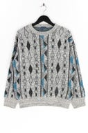 Ohne Label-Muster-Pullover -M