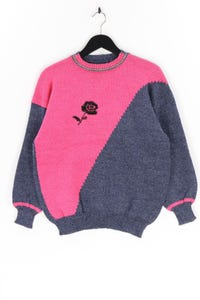 Ohne Label - muster-strick-pullover - S