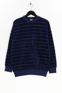 Ohne Label - samt-sweatshirt mit streifen - L