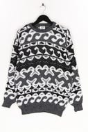 Ohne Label-Muster-Pullover -XL