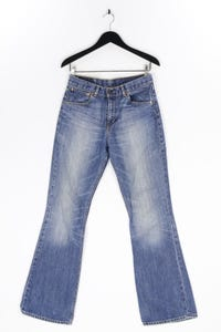 LEVI STRAUSS & CO. - used look bootcut-jeans mit logo-patch - W31