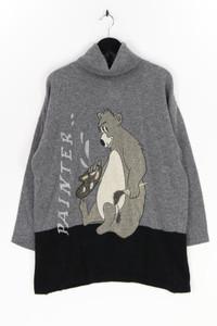 Ohne Label - strick-pullover mit angora - D 38