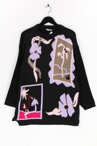 Ohne Label - strick-pullover mit floralem muster - L