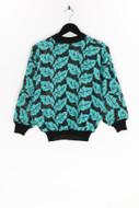 Ohne Label-Strick-Pullover mit floralem Muster mit floralem Muster-S