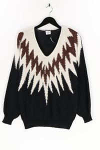 Ohne Label - strick-pullover mit angora mit  zickzack-muster - D 40-42