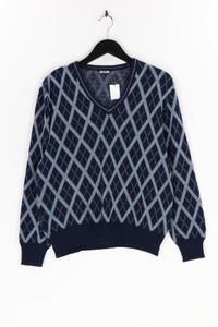 Ohne Label - strick-pullover mit karo-muster - M