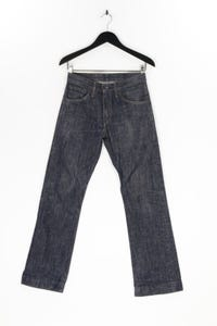 LEVI STRAUSS & CO. - used look straight cut jeans mit logo-patch - W28