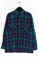 40 SAVILE ROW - flanell-hemd mit karo-muster - L