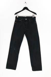 LEVI STRAUSS & CO. - used look straight cut jeans mit logo-patch - W32