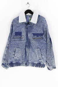 RAM SPORTS - jeans-jacke mit faux fur-kragen - L
