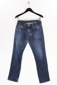 Levi´s - used look straight cut jeans mit logo-patch - W30