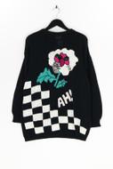 JOY - strick-pullover mit pailletten - M