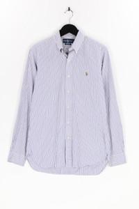 RALPH LAUREN - gestreiftes button-down-hemd mit logo-stickerei - M