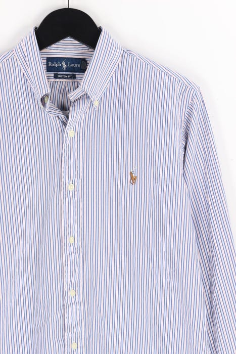 RALPH LAUREN Button down Hemd mit Logo Stickerei M