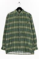 Mc Panthon sportswear - kariertes button-down-hemd aus baumwolle - L