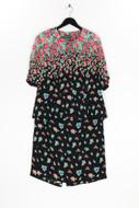 Sporting DRESS - kombination mit blumen-print - D 44