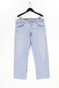 Levi´s - used look straight cut jeans mit logo-patch - W40