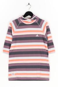 adidas - streifen-kurzarm-shirt mit logo-stickerei - XL