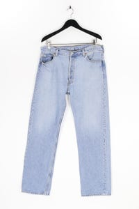 Levi´s - used look straight cut jeans mit logo-patch - XL