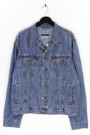 BASIC CONCEPT - jeans-jacke im used look - XL